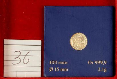 CINQUIEME REPUBLIQUE (1959- ). 100 euro Semeuse,...