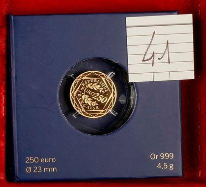 CINQUIEME REPUBLIQUE (1959- ). 250 euro Coq,...