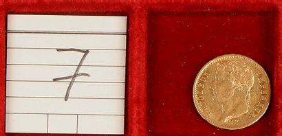 NAPOLEON I (1804-1815). 20 francs tête laurée,...