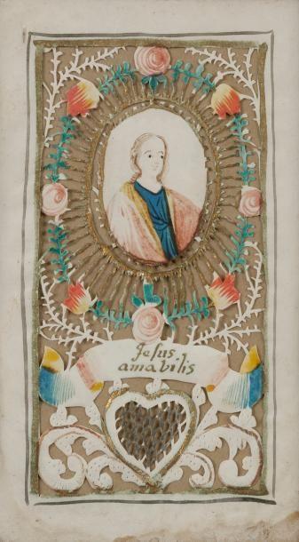 Canivet, XVIIIe siècle Papiers découpés entourant...