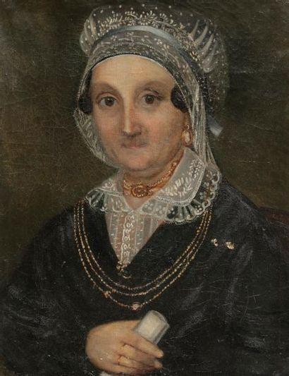 France, XIXe siècle Portrait d'une femme...