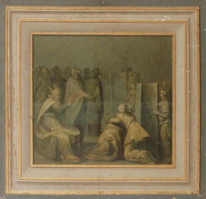 École FRANÇAISE du XVIIe siècle Scène biblique...