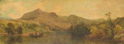 École ITALIENNE du XIXe siècle Paysage de...