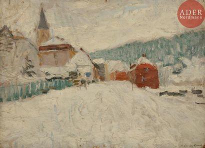 Alfred SWIEYKOWSKI (1869 - 1953) Église deVacheresse,...