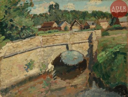 Alfred SWIEYKOWSKI (1869 - 1953) Pont sur...