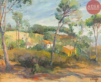 Constantin KLUGE (1912 - 2003) Paysage du...