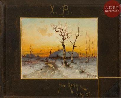 Yuly Yulevitch KLEVER (1850 - 1924) Paysage...