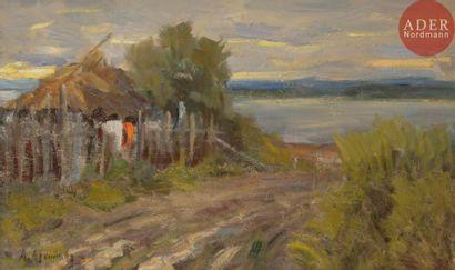 Abram Efimovitch ARKHIPOV (1862 - 1930) Paysage....