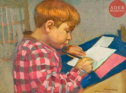 Maurice DENIS (1870-1943) Jean-Baptiste écrivant,...