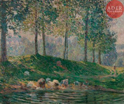 Henri LEBASQUE (1865-1937) Les Lavandières...