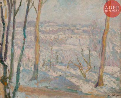 Henri LEBASQUE (1865-1937) Montévrain sous...