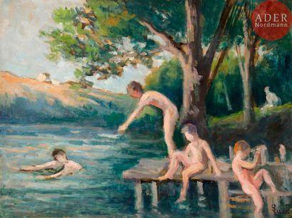 Maximilien LUCE (1858-1941) Rolleboise, la...