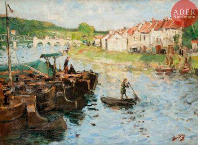 Pierre-Eugène MONTEZIN (1874-1946) Sur la...