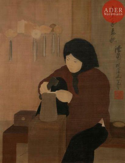 NGUYEN PHAN CHANH (1892-1984) L'Orfèvre Peinture...