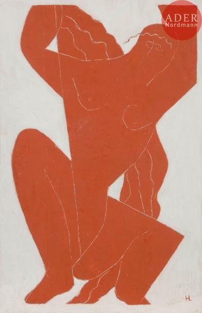 Henri LAURENS (1885-1954) Femme accroupie...