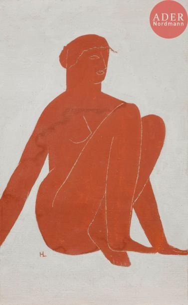 Henri LAURENS (1885-1954) Femme nue assise...
