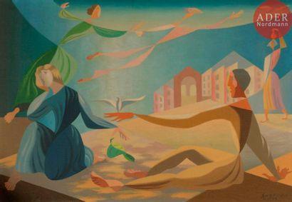 Léopold SURVAGE (1879-1968) La Colombe, 1939...