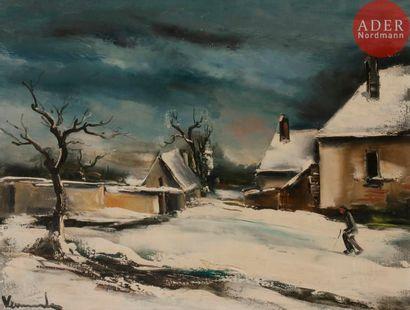 Maurice de VLAMINCK (1876-1958) Neige ou...