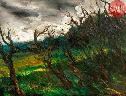 Maurice de VLAMINCK (1876-1958) Paysage orageux...