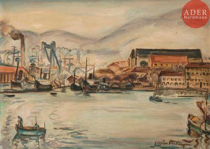 émile-Othon FRIESZ (1879-1949) Port de Toulon,...
