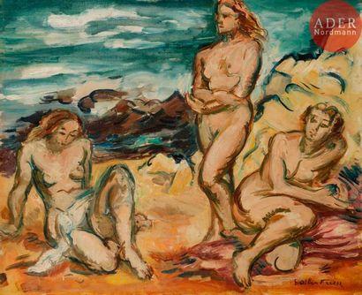 émile-Othon FRIESZ (1879-1949) Trois baigneuses...