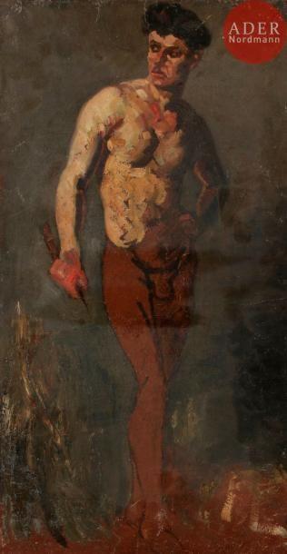 Armand GUILLAUMIN (1841-1927) Étude d'homme...