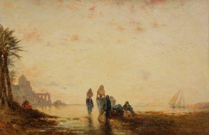 Narcisse BERCHERE (1819-1891) Femmes au retour...