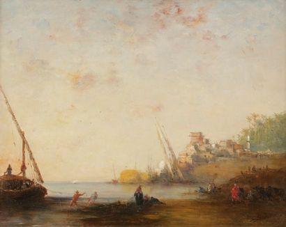 Narcisse BERCHERE (1819-1891) Felouque sur...