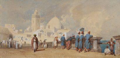 Louis TESSON (1820-1870) Turquie, mosquée...
