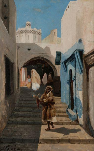Maxime NOIRÉ (1861-1927) Rue animée en Algérie...