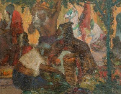 Louis François CABANES (1867-1947) Marché...