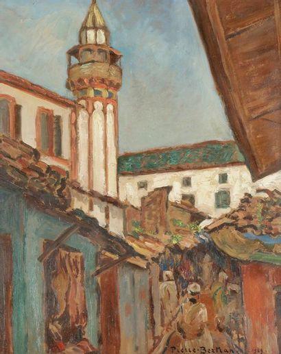 Pierre BERTRAND (1884-1975) Marché oriental,...
