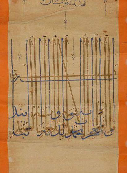 Très rare firman enluminé du sultan Aq Qoyunlu...