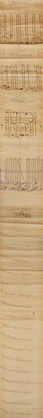 Très rare firman enluminé du sultan Aq Qoyunlu Uzun Hasan, Empire Turcoman, Tabriz,...