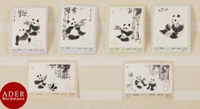 CHINE Série complète Les pandas. Yvert et...