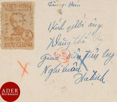 VIET NAM du nord Rare N°60 (sur lettre) 2...