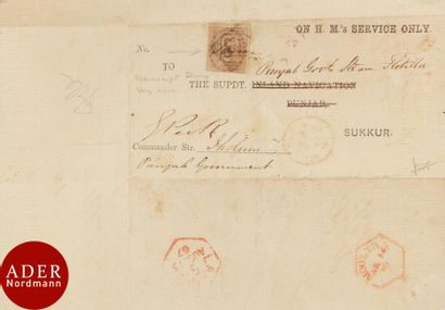 INDE One Anna Victoria sur lettre de 1867...