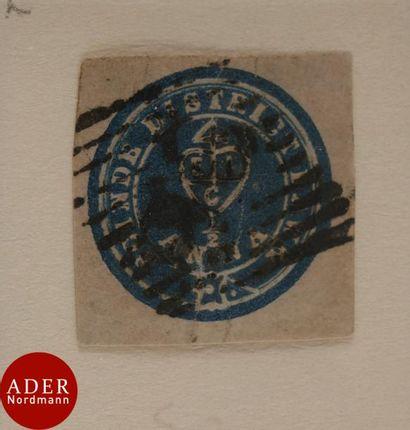 INDE Rare n°1A, 1/2 Anna bleu Scinde Dawk...