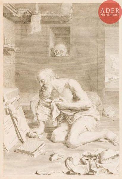 Claude Mellan (1598-1688) Saint Jérôme pénitent....
