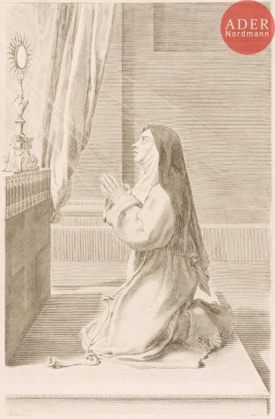 Claude Mellan (1598-1688) Sainte Claire....