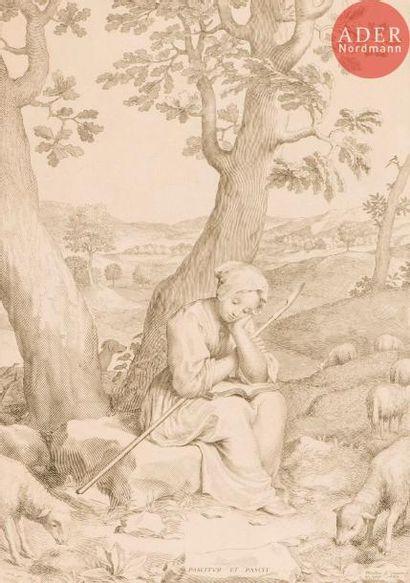 Claude Mellan (1598-1688) Sainte Geneviève...