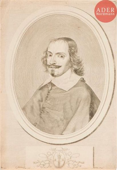 Claude Mellan (1598-1688) Le Cardinal Jules...