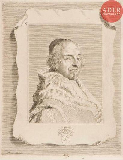 Claude Mellan (1598-1688) François-Théodore de Nesmond. 1661. Burin. 250x320....