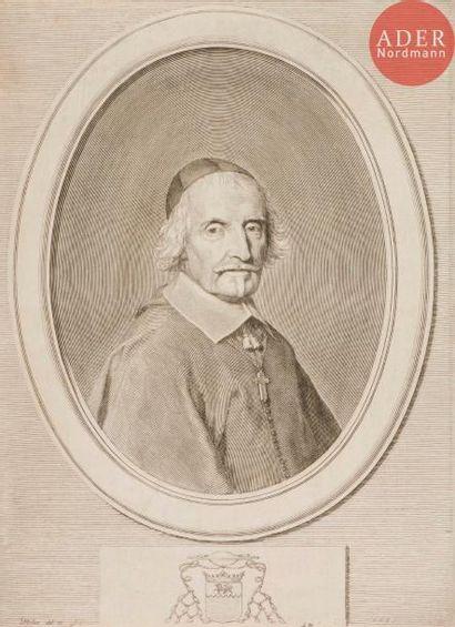 Claude Mellan (1598-1688) François de Villemontée, évêque de Saint-Malo. 1661. Burin....