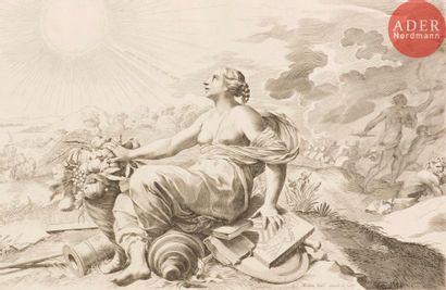 Claude Mellan (1598-1688) Allégorie sur la...