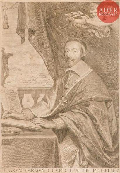 Claude Mellan (1598-1688) Portrait du cardinal...