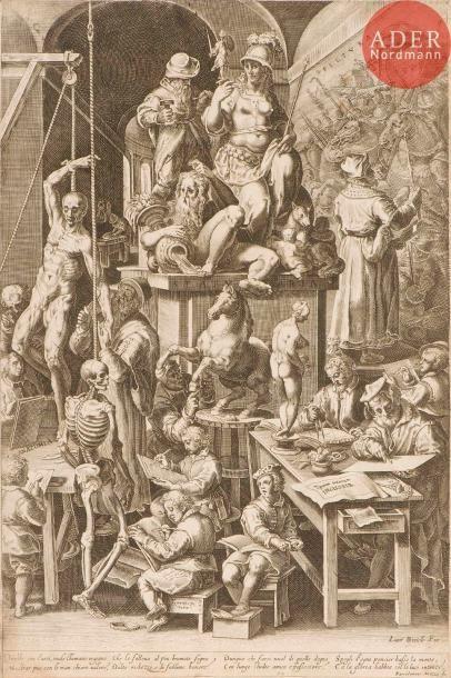 Cornelis Cort (1533-1578) (d'après) L'Académie...