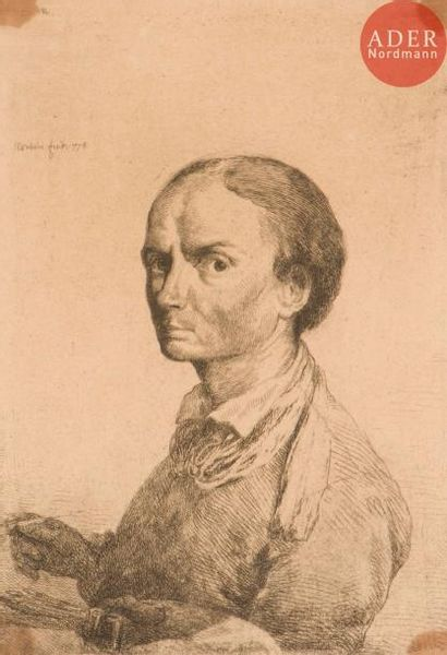 Jean-Pierre Norblin delaGourdaine (1745-1830) Autoportrait à la palette et au...