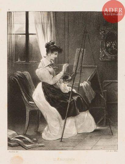 Achille Devéria (1800-1857) David (d'Angers)....