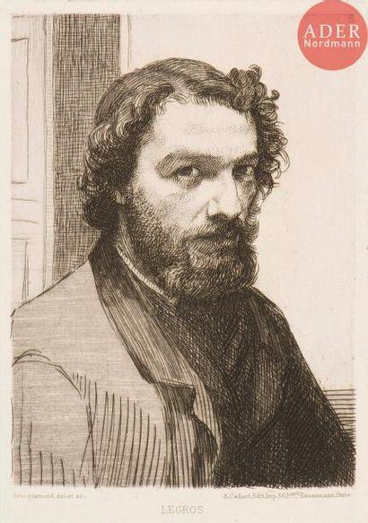 Félix Bracquemond (1833-1914) Alphonse Legros,...